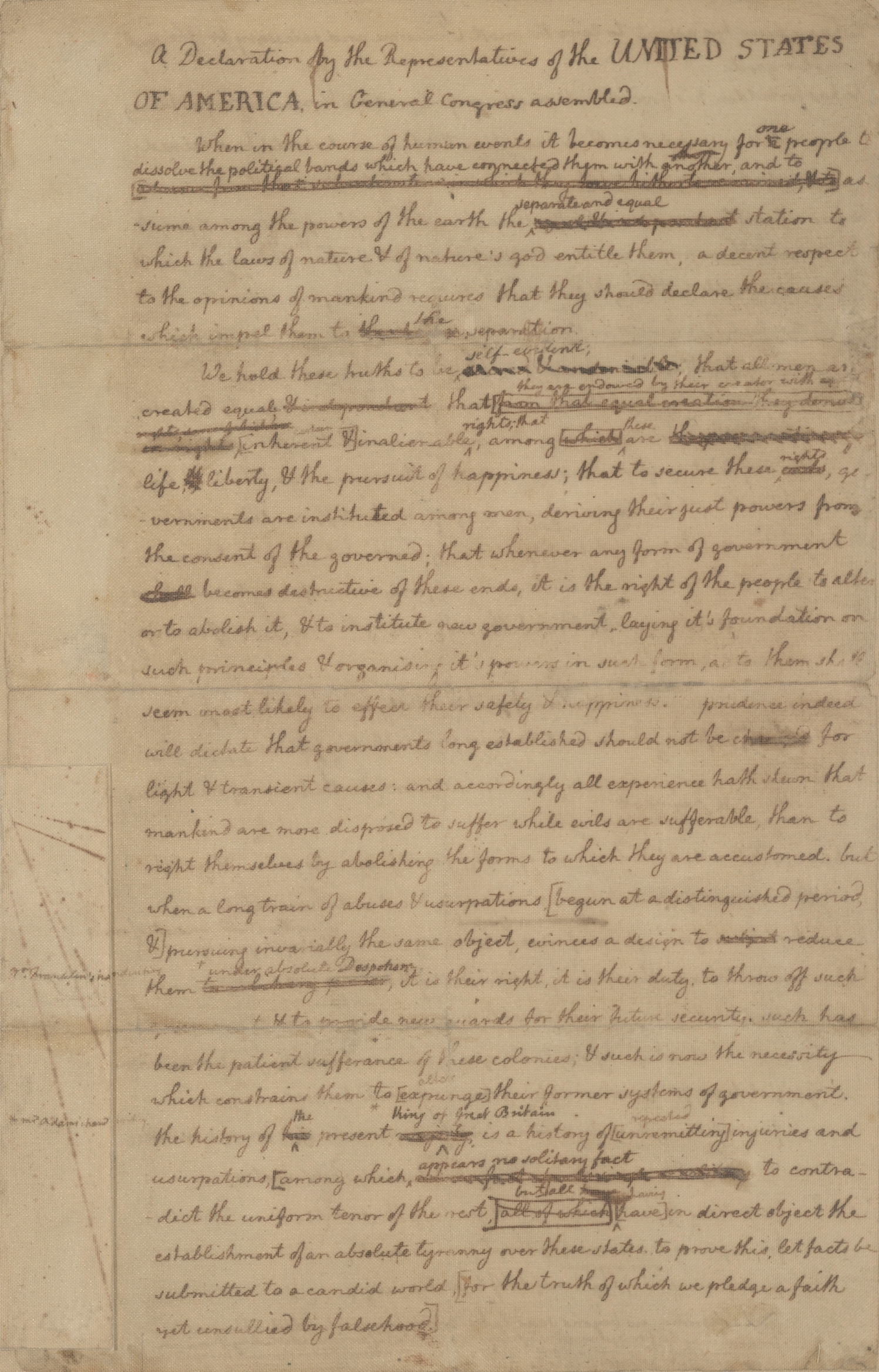 declaration of independence rough draft summary How did thomas jefferson write the declaration of independence  read the  text of a summary view of the rights of british america here  the rough draft  is the version that contains corrections and changes added by franklin and.